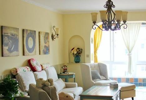 客厅背景墙与沙发的颜色搭配该怎样处理
